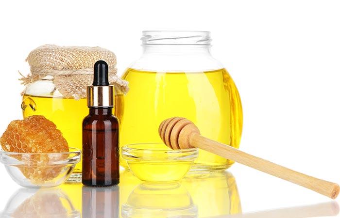 haarmasker met honing en olijfolie