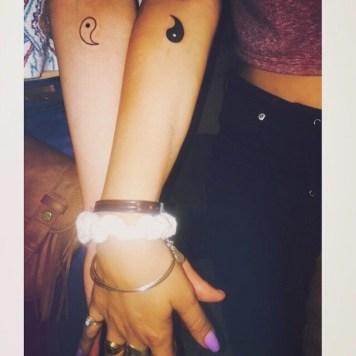 Yin en Yang tattoo voorbeelden