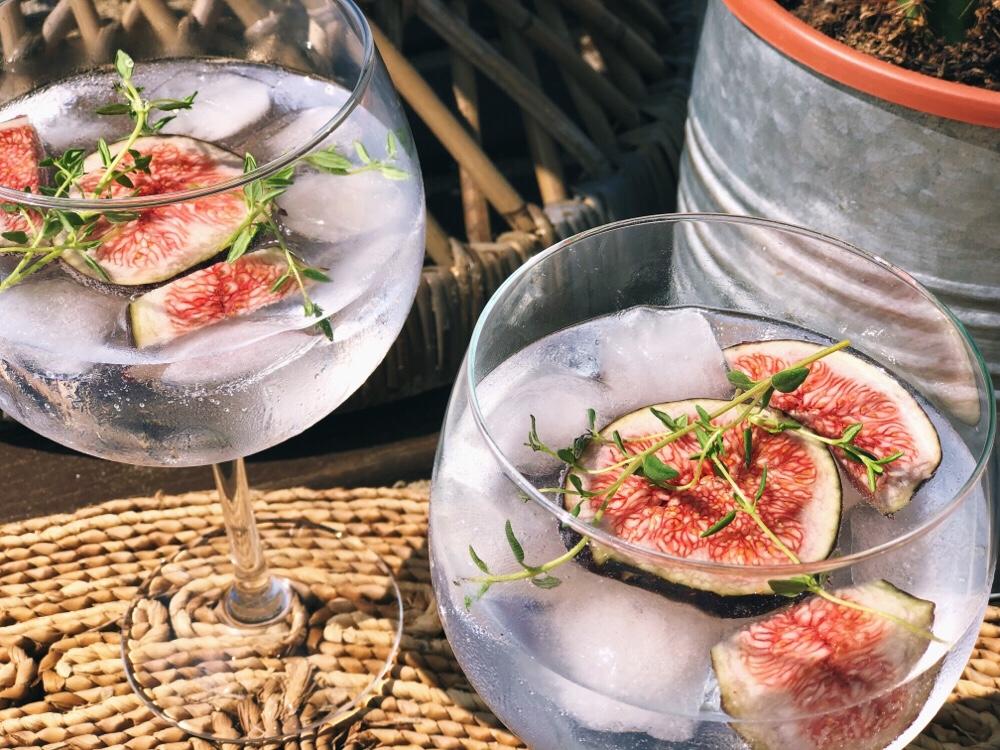 gin tonic recept met vijg