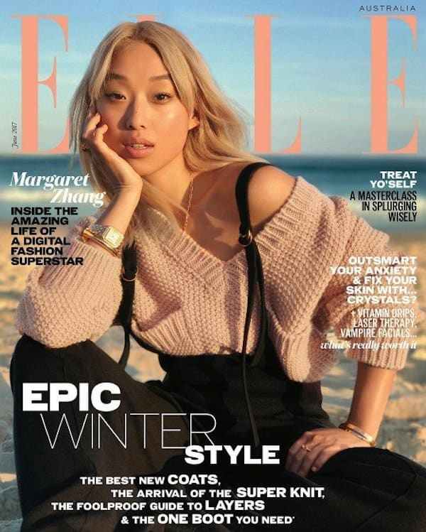 elle cover shot with iPhone
