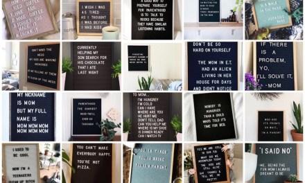 "20x de leukste ""mama letterbord quotes"""