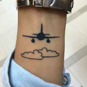 airplane tattoo inspiration