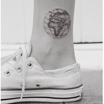 tatoeage wereldbol