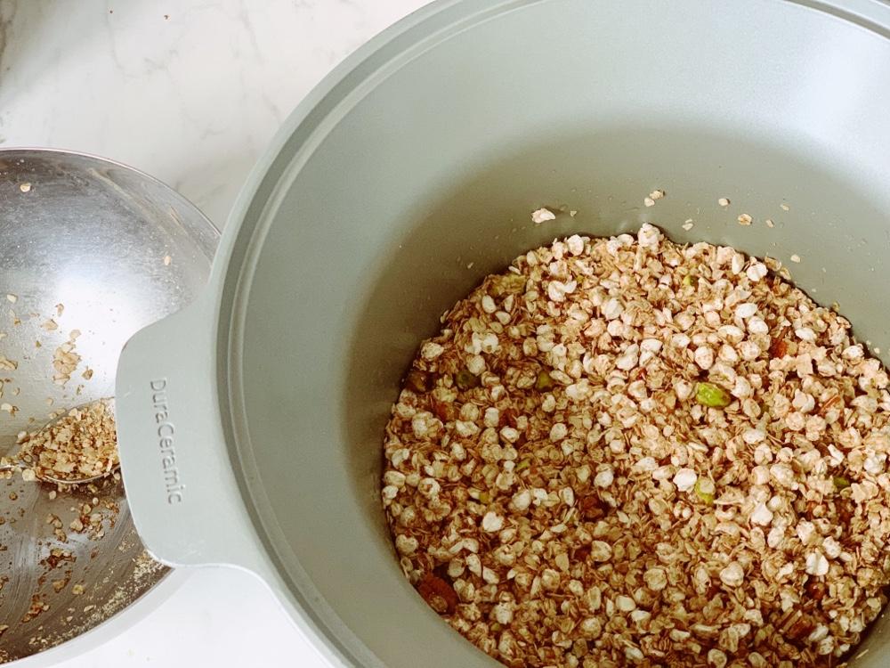 bereiding granola uit de slowcooker