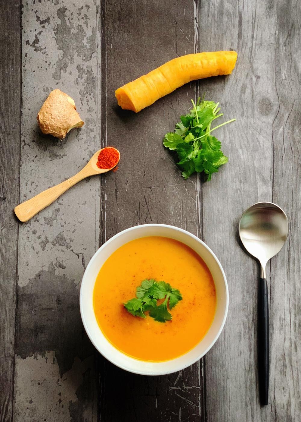 recept voor pittige wortelsoep