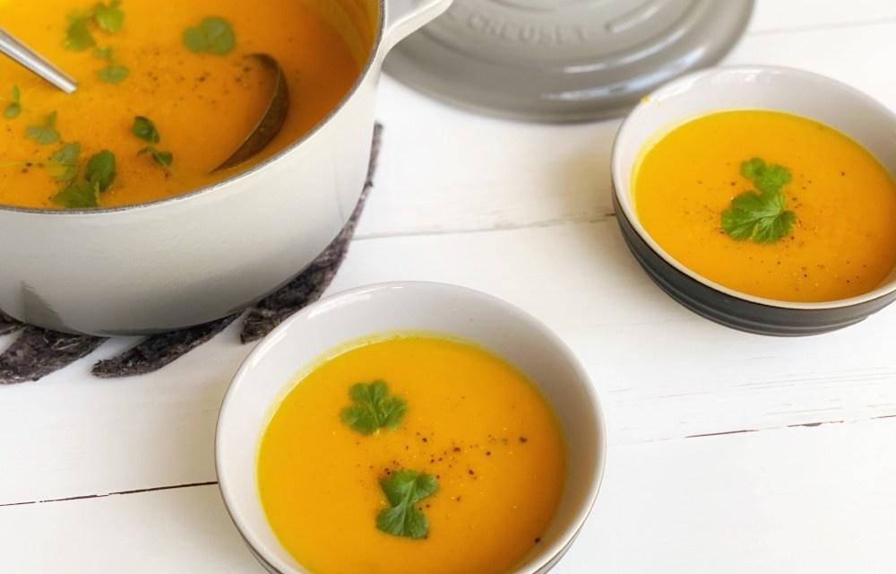 Recept voor wortel pompoensoep | lekker, makkelijk én gezond