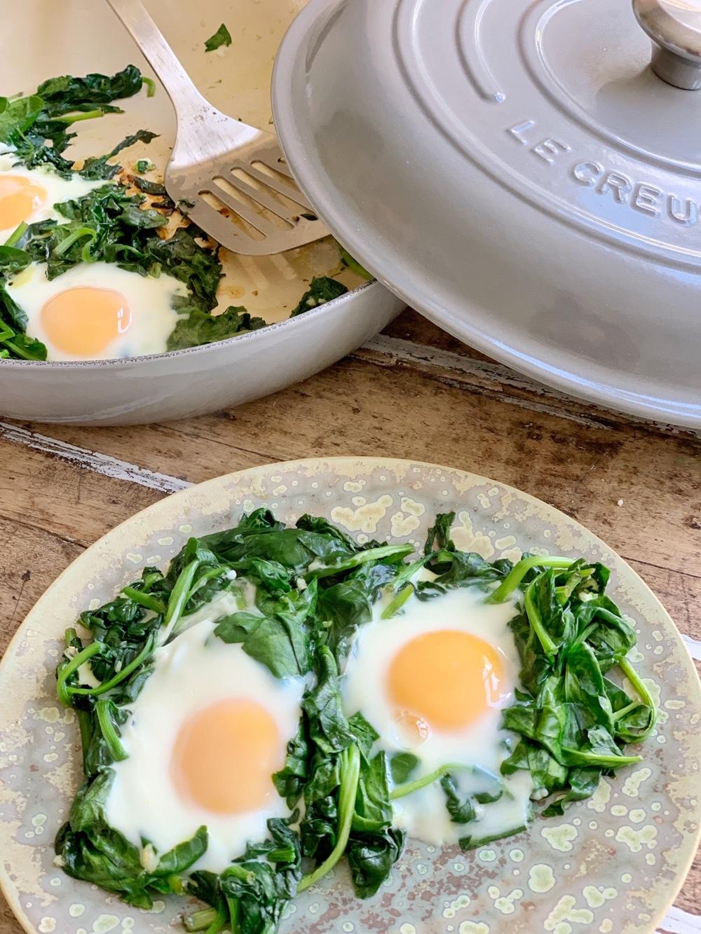 Recept   supergezonde uitsmijter met spinazie