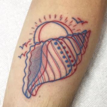 3d shell tattoo