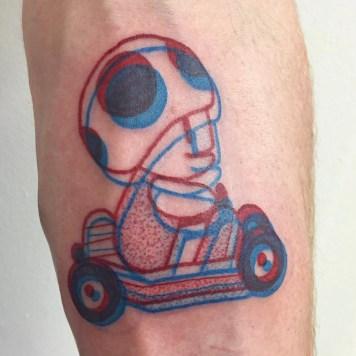 3D tattoo Mario Bros