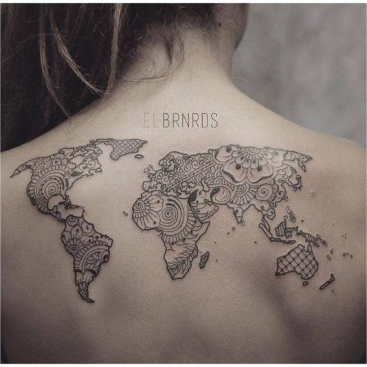 wereldkaarttattoo