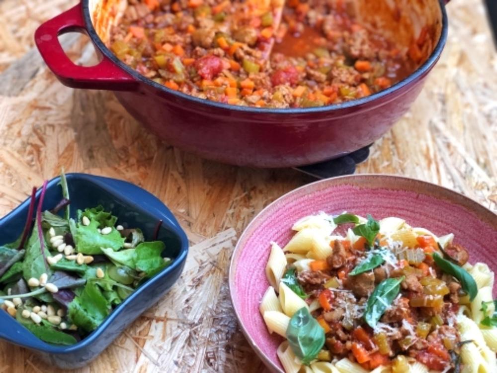 Toscaanse pasta met tomaat klaar