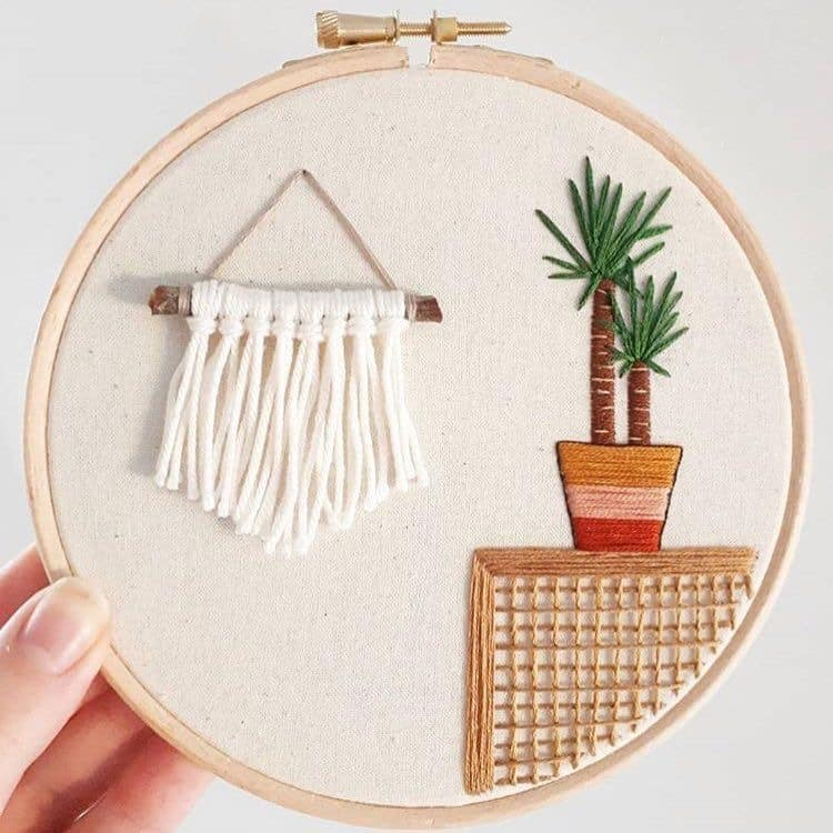 DIY embroideries.