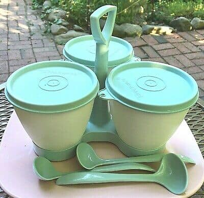 retro Tupperware trio