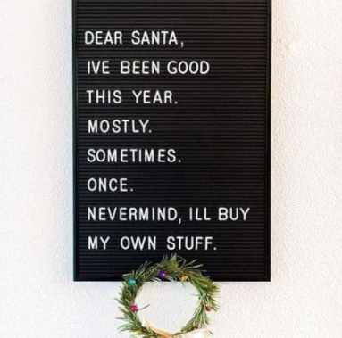 Christmas letterbord quotes