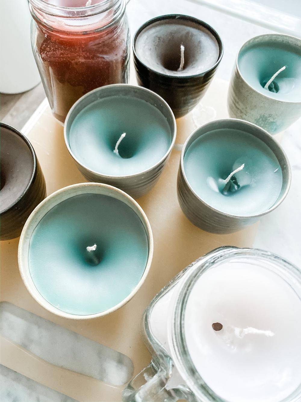 gaten bij zelf kaarsen maken
