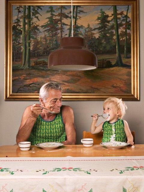 Opa en kleinkind