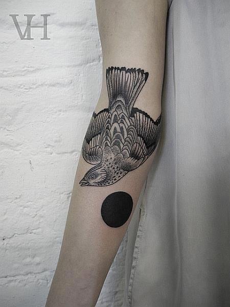 black circle tattoos simple
