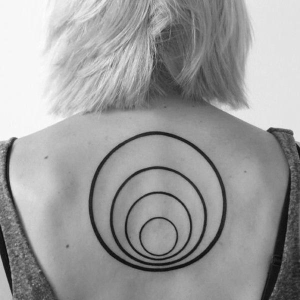 black circle tattoos inspiration