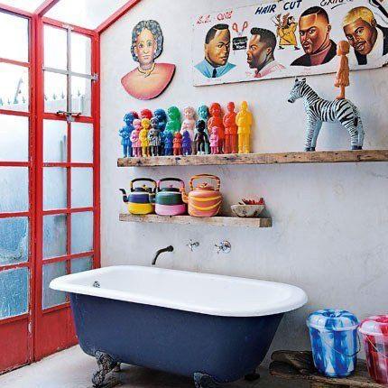 koningsblauw badkamer
