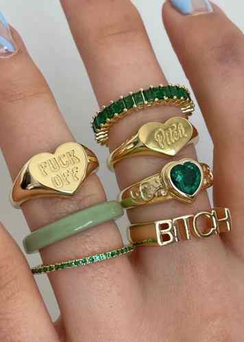 ringen met smaragd