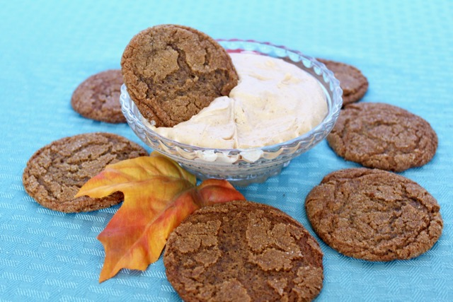 Perfect Fall Gingersnaps with heavenly pumpkin dip. Come on over and get the recipe!