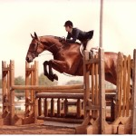 Sandy Rakowitz with Fiddlin' Around; NJHSA Jr. Working Hunter Champion