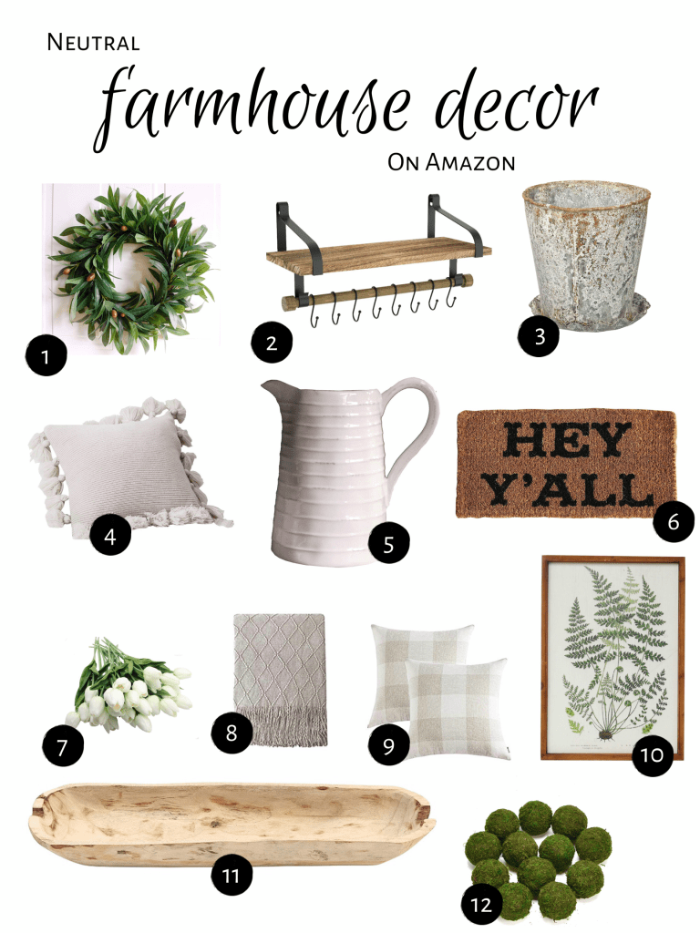 Find Out Neutral Farmhouse Decor On Amazon At OneHomeToAnother