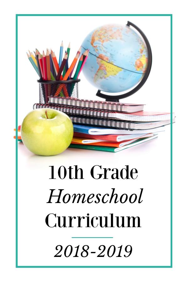 Homeschool Curriculum Choices- 10th Grade