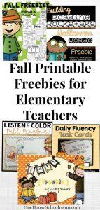 Fall Printable Freebies for Elementary Teachers