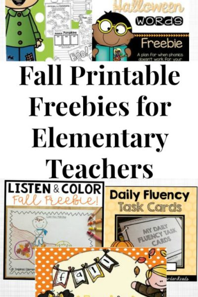 Fall Printable Freebies for Elementary Teachers