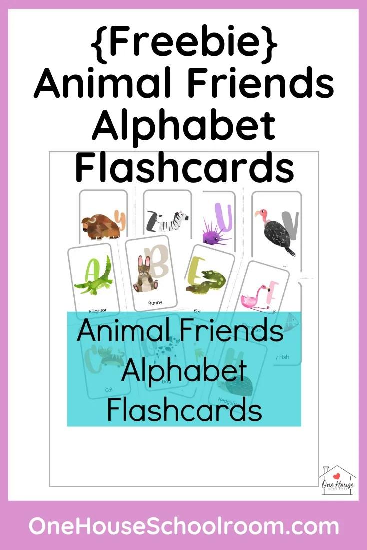 Animal Friends Alphabet Flashcards Freebie