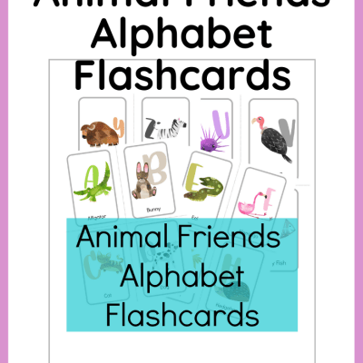 {Freebie} Animal Friend Alphabet Flashcards