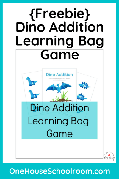 Dino Addition Learning Bag Game Freebie