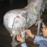 Making a Zebra Pinata