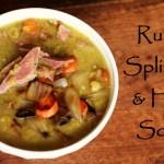 Recipe: Rustic Split Pea Soup With Ham