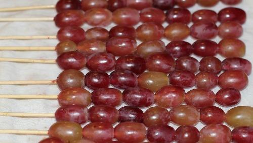 grapes on a stick