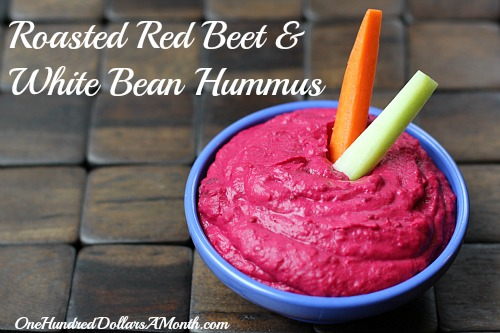 roasted Red Beet & White Bean Hummus