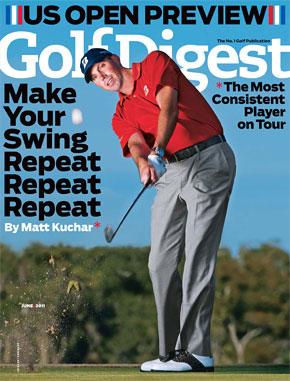 golf digest magazine cover