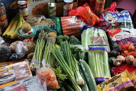 winco shopping trip fresh vegetables