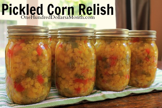 Pickled Corn Relish
