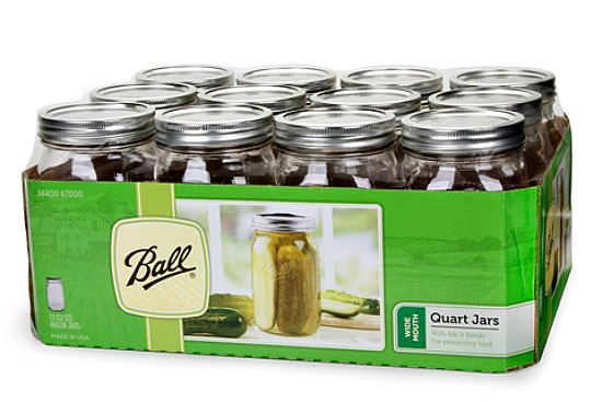 ball quart canning jars