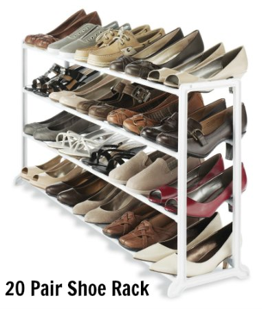 Whitmor 20 Pair Shoe Rack