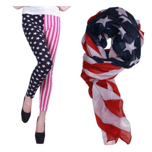 american flag pants scarf