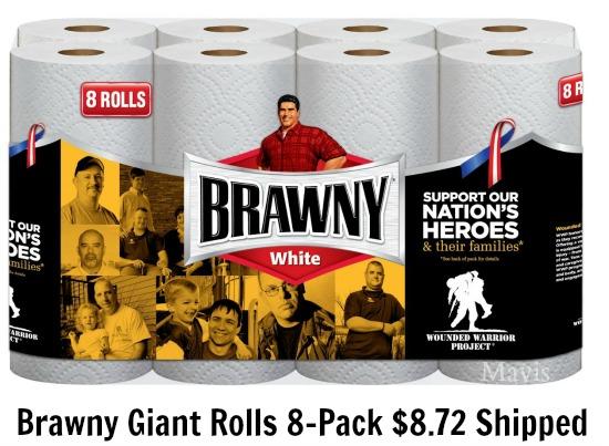 Brawny Giant Rolls White