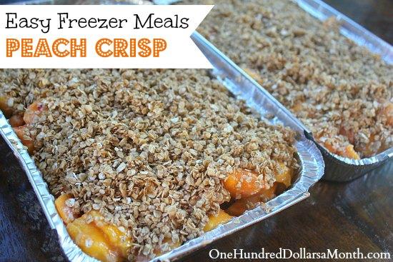 Easy Freezer Meals - Peach Crisp Recipe