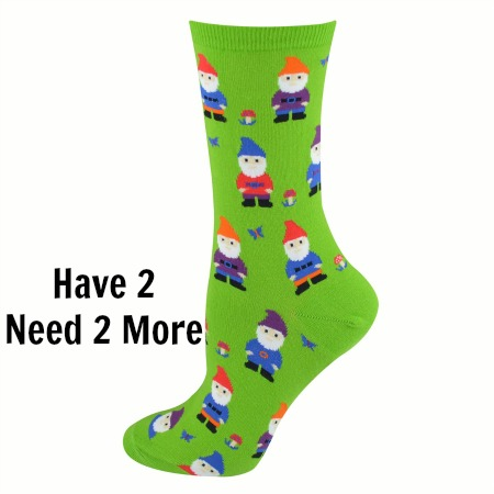 Socksmith Women's Green Nice to Gnome You Crew Socks