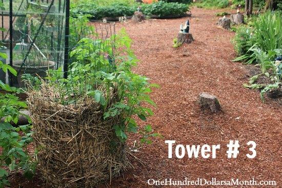how to make a potato tower