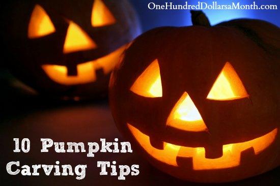 10 Pumpkin Carving Tips