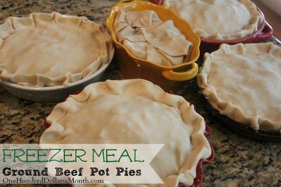 Freezer Meals - Ground Beef Pot Pie - One Hundred Dollars ...