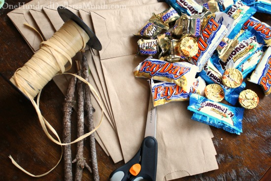 halloween witch broom candy bags